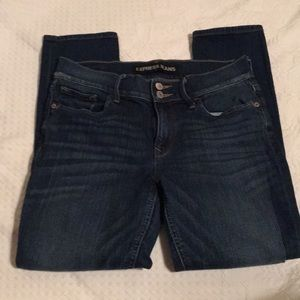 Express Jeans Cropped Legging Mid Rise Sz 6